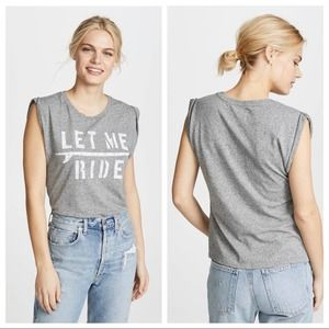 Sol Angeles Let Me Ride Muscle Tee Shirt S